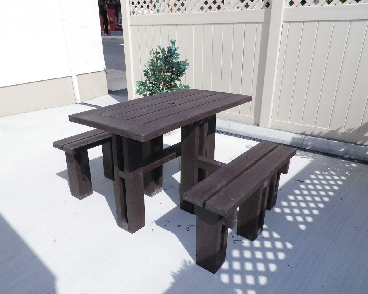 4 sided picnic table without back