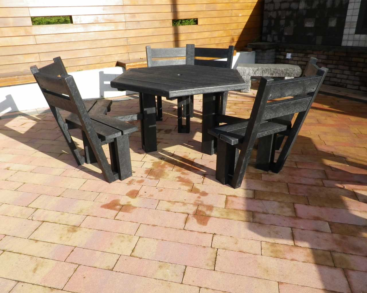 Sided Picnic Table With Back Murrays Recycled Plastic - 6 sided picnic table