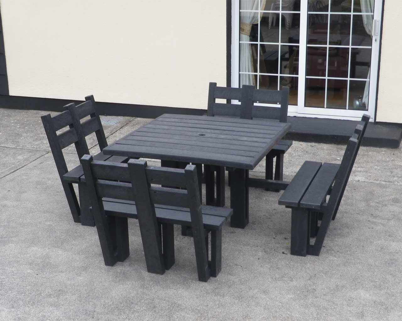 8 sided picnic table with back