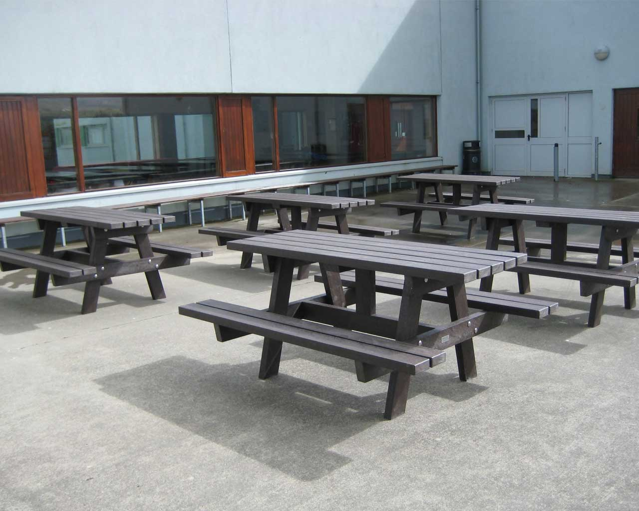 a frame picnic table