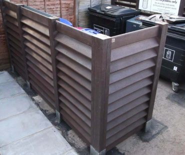 Fencing Around Bins
