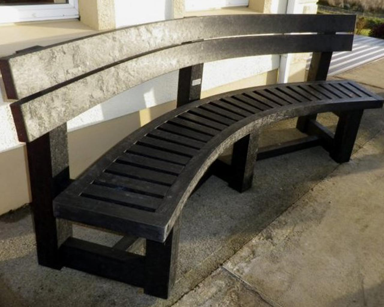 Semicircular Bench With Back