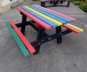 Multicoloured bench