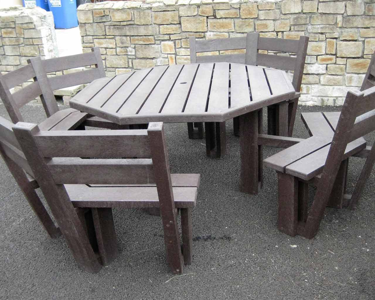 8 Sided Picnic Table With Back Murray S Recycled Plastic