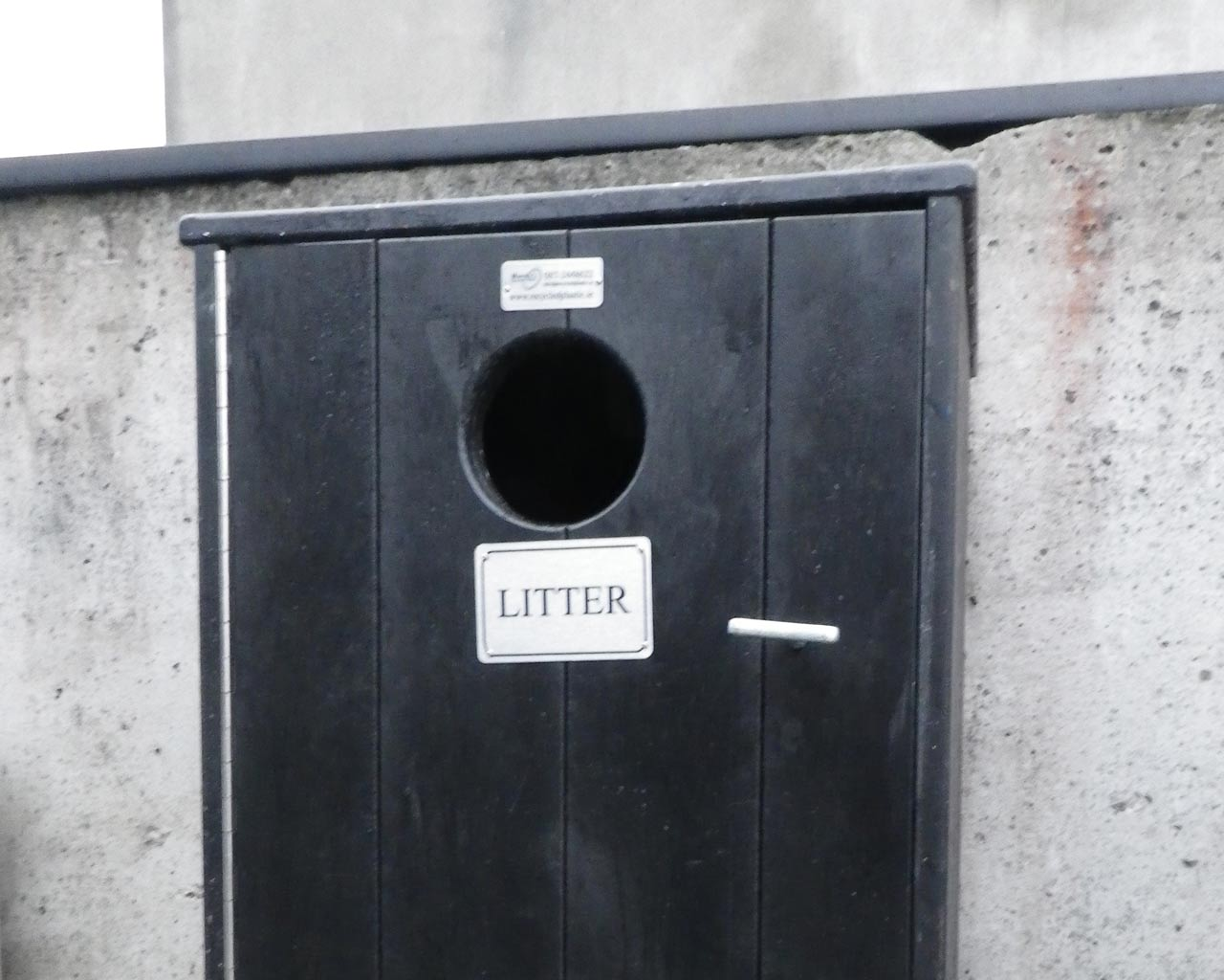 Litter Bin Without Ashtray