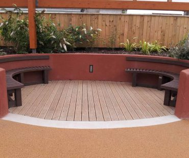 Semicircular Bench Without Back